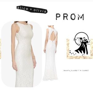 ✨Alice + Olivia lace gown. ✨Wear for PROM/WEDDING!